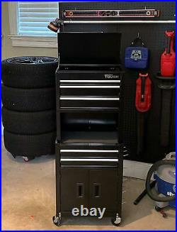Hyper Tough 20-In 5-Drawer Rolling Tool Chest and Cabinet Combo withRiser