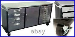 Industrial Work Bench Tool Box Roller Cabinet Workbench 12 Drawer Chest Storage