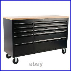 Large Finance Garage Tool Chest Box Cabinet 55 10 Layers Drawers Storage Roller