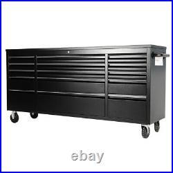 Lockable Tool Box Chest Roller Cabinet 4 Wheels Garage Workshop withDrawer Divider