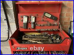 Mechanics tools in snap-on tool chest and roll cabinet lots of good extras