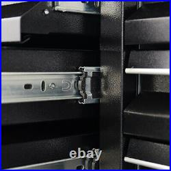 Metal Lockable Garage Tool Chest Storage Box Trolley Roller Cabinet With Drawers
