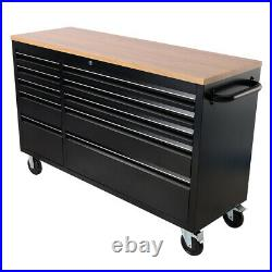 Mobile Roll Tool Chest Trolley 10/15 Drawers Storage Cabinet Garage Workshop Box