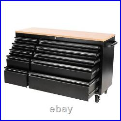 Mobile Roller Chest Trolley Cart Storage Cabinet Tool Box Garage Work Bench New
