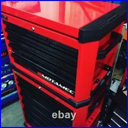 Motamec Motorsport M90 Roller Cabinet + Top Tool Chest RollCab Box Red / Black