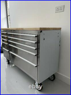 NEW 55 Stainless Steel Roller Cabinet Tool Chest Professional Mechanics Garage