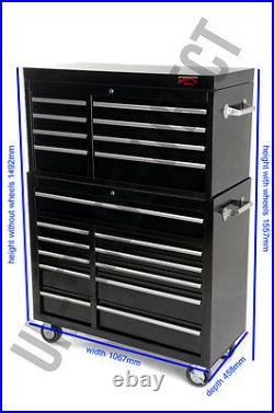 Professional Mechanics Tool Chest Roll Cab Top Box With Us Ball Bearing Slides