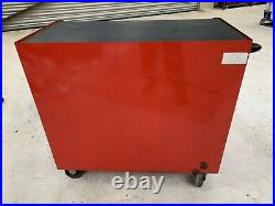 RED SNAP ON 40 TOOL BOX ROLL CAB CABINET + Stainless Steel Worktop