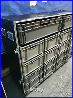 Roll Cabinet Flight Case Tool Box With Removable Euro Storage Boxes