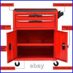 Roller Tool Cabinet Storage Chest Box 3 Drawers Roll Wheels Garage Workshop