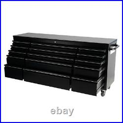 Roller Tool Chest Trolley Cabinet Mobile Stoarge Box 15 Drawers Garage Workshop