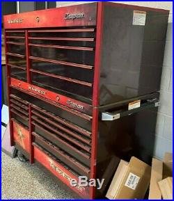 SNAP-ON TEMPEST BLACK CHERRY TOOL BOX 22 DRAWERS snapon roll cabinet top bottom