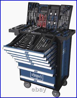 Scheppach Tw1000 Tool Roller Cabinet With 263 Tools 7 Drawers Workshop Storage