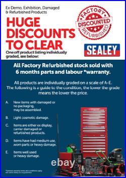 Sealey AP2505B Black Heavy Duty Roller Cabinet 5 Drawer Tool Chest Ball Bearing