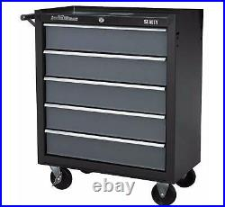 Sealey AP2505B Heavy Duty Roller Cabinet Tool Chest 5 Drawer Ball Bearing Black