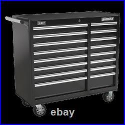 Sealey AP41169B Black Roll Cab Cabinet Tool Box Ball Bearing Slides Runners