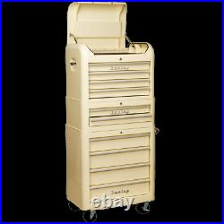 Sealey Premier Retro Style 10 Drawer Roller Cabinet, Mid and Top Tool Chest Crea