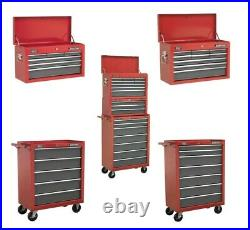 Sealey Pro Red Tool Top Box Chest Storage Unit Cabinet Heavy Duty Ball Bearing
