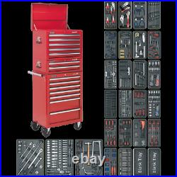 Sealey Superline Pro 14 Drawer Roller Cabinet, Mid and Top Tool Chests + 1179 Pi