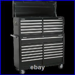 Sealey Superline Pro 23 Drawer Roller Cabinet and Tool Chest Black