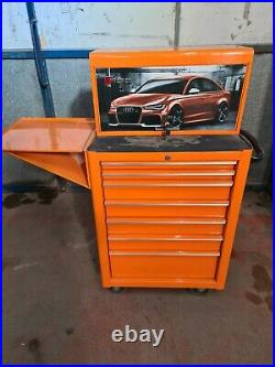 Snap On Roll cabinet with top box, Audi RS6 tool box, One off Roll cab