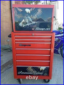 Snap On Tool Box, Roll Cabinet, Chest with decals