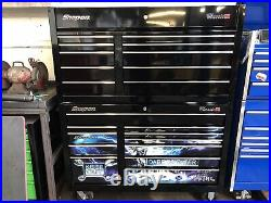 Snap on tool chest Box Roll Cabinet Black Classic 78