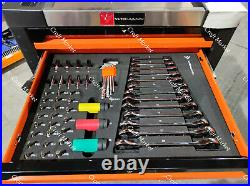 TOOL BOX ROLLER CABINET STEEL CHEST 4 DRAWERS FULL OF TOOLS WIDMANN Deluxe