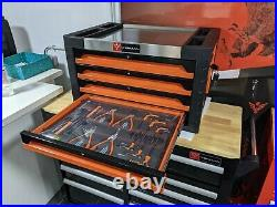 Tool Box Roller Cabinet Steel Chest 4 Drawers Full Of Tools Widmann