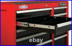 Tool Cabinet with Drawer Liner Roll Socket Organizer 41 Inch 10 Drawer Red