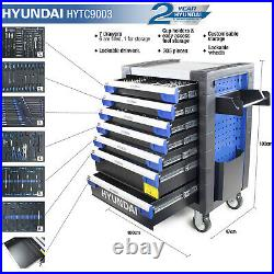 Tool Chest & 305 PRO Tools set 7 Drawer Castor Mounted Roller Cabinet HYUNDAI