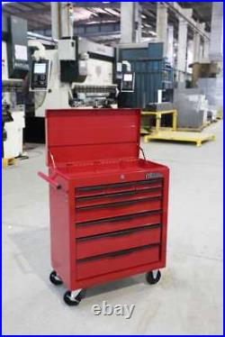 Tool Chest Trolley Hilka 8 Drawer Red Mobile Storage Roll Wheels Cabinet Box