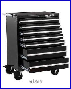 Tool Chest Trolley Hilka Black 7 Drawer Mobile Storage Roll Cabinet Wheels Cart