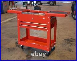 Tool Parts Trolley Chest New Hilka 2 Drawer Garage Storage Cart Roll Cabinet