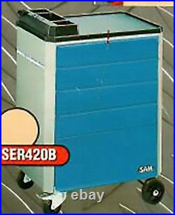 Tool cart 5 drawer workshop trolley tools cabinet steel chests box roller