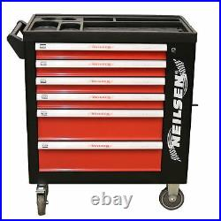 Toolbox 6 Draws Tool Chest Storage Cabinet Roller Cab Complete With 155pc Tools
