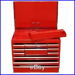Toolbox Top Half 12 Draws Tool Chest Storage Cabinet Roller Ball Bearing Runners