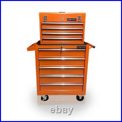 Us Pro Tools Orange Affordable Tool Chest Rollcab Steel Box Roller Cabinet