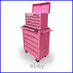 Us Pro Tools Pink Affordable Tool Chest Rollcab Steel Box Roller Cabinet