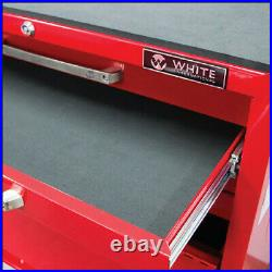 White International Toolbox 11 Draw Roller Cabinet Lockable Tool Box Trolley
