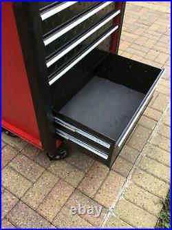 Work Zone Roller Tool Cabinet Storage Chest Box 6 Drawers Garage Workshop Red